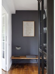 Farrow and Ball Down Pipe (?) Good bookcase color