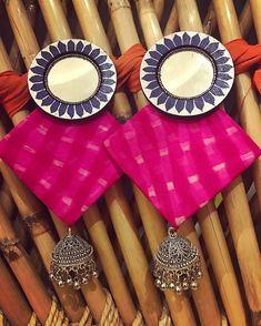 Thread Jewellery, Textile Jewelry, Fabric Jewelry, Metal Jewelry, Beaded Jewelry, Diy Necklace, Diy Earrings, Handmade Jewelry Designs, Handcrafted Jewelry