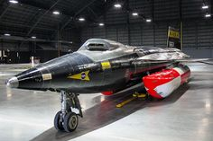 """The X-15A-2 takes its place in the fourth building of the National Museum of the U.S. Air Force in October 2015. Note the open """"eyelid"""" covering the cockpit's left window pane 🟠🟠🟠 📸Photo Credits: Unknown ## If anyonw knows owner of the picture, please let us know to credit him/her## Rocket Power, Space Gallery, Experimental Aircraft, Dayton Ohio, Military Jets, Museum Exhibition, National Museum, Air Force, Fighter Jets"""