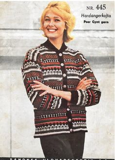 Hardangerkofta 445 Norwegian Knitting, Colour Combinations, Mittens, Christmas Sweaters, Knitting Patterns, Men Sweater, Color, Fashion, Tejidos