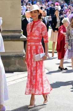 Gina Torres in Costarellos - What Celebrity Guests Wore To Meghan Markle And Prince Harry's Wedding - Photos