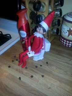 Elf on the shelf had the poops!!