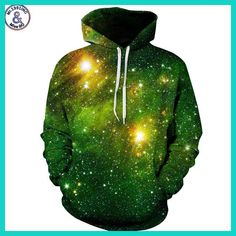 Find More Hoodies ` Sweatshirts Information about Space Galaxy Sweatshirts Men/Women Hoodies With Hat Print Stars Nebula Autumn Winter Loose Thin Hooded Hoody Tops,High Quality sweatshirt men,China sweatshirt men Suppliers, Cheap hoodie t Galaxy Hoodie, Hoodies For Teens, Ärmelloser Pullover, Green Galaxy, 3d Prints, Sweat Shirt, Stylish Men, Mens Sweatshirts, Men's T Shirts