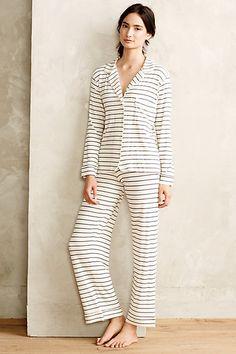 20% OFF with Code: EXTRAJOLLY | EBERJEY STRIPED SLEEP SET #anthrofave #sleepwear #pajamas