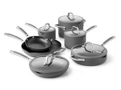 #holidaycooking 12Charcoal Gray 12-pc. Simply Calphalon Easy System Nonstick Cookware Set by Calphalon by Calphalon at Cooking.com