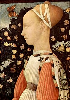 Portrait of Ginevra d'Este,1436-38 by Pisanello