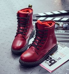 67ecd692f2c4 Winter Student Martin Boots SE9033. Red Shoe ...