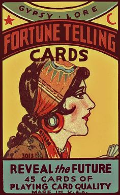 Vintage Fortune Telling Cards poster Great signage for the fortune teller booth Vintage Ephemera, Vintage Ads, Vintage Posters, Vintage Gypsy, Fortune Cards, Fortune Telling Cards, Gypsy Fortune Teller, Vintage Circus, Vintage Carnival