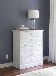 New hardware and paint transform a plain dresser into a work of art. We'll show you how easy it is to do.