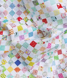 A Checkerboard Quilt and a Strip Piecing Tutorial - Red Pepper Quilts with pressing directions