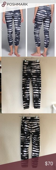 """Lululemon High Times Full on Luon in excellent condition. High rise. 25"""" inseam. 12"""" across waistband. No trades. Thx! 😊 lululemon athletica Pants Leggings"""