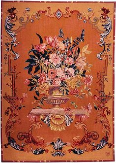 Floral French wall tapestry