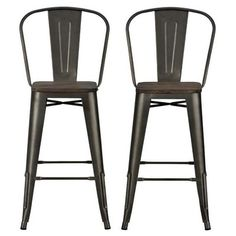 "Luxor 30"" Metal Bar Stool with Wood Seat 2pc - Copper - Dorel Home Products : Target"
