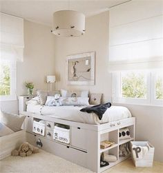 Great teen room setup w. Girl Room, Girls Bedroom, Bedroom Decor, Hideaway Bed, Shabby Chic Bedrooms, Awesome Bedrooms, Kid Beds, Small Rooms, New Room