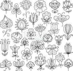창작도안을 그릴때 참고하기 좋은 꽃, 잎, 나무의 다양한 형태 모음입니다 가져가실 때에는 공감과 덧글 부...