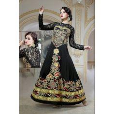 Viva N Diva Black Color Pure Viscose Gown  #partywear #fashion #stylish #trendy #eveningwear #onlineshopping  http://goo.gl/mO7a3o