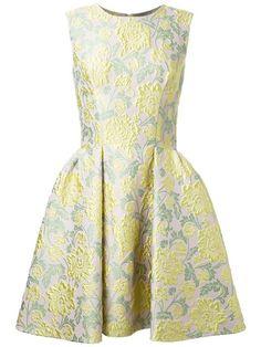 ERMANNO SCERVINO floral brocade pleated dress. #ermannoscervino #cloth #dress