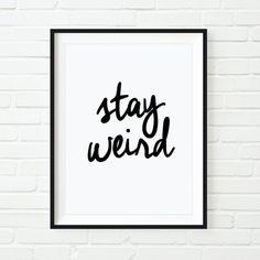 Motivational Print Printable Art Typography von TheMotivatedType