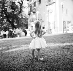Adorable flower girl: http://www.stylemepretty.com/2016/02/25/elegant-blush-gold-al-fresco-wedding/ | Photography: Brett Heidebrecht - http://brettheidebrecht.com/