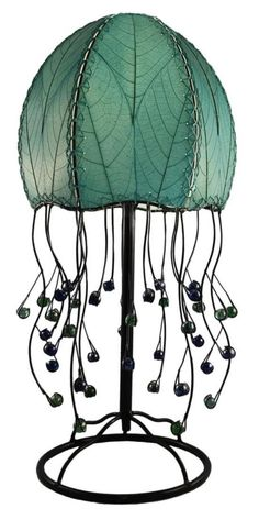 Eangee Home Design Jellyfish Table Lamp, Sea Blue Jellyfish Light, Pink Jellyfish, Jellyfish Aquarium, Blue Table Lamp, Table Lamps, Desk Lamp, Tables, Bright Homes, Tiffany Lamps