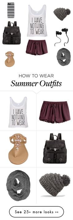 """......."" by naomi2018 on Polyvore featuring H&M, Black Rivet, Proenza Schouler, Kate Spade, Monster and Dakine"