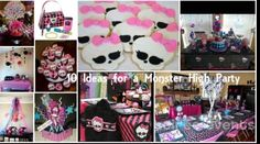 Monster High party- this can be a great birthday party and a Halloween party theme