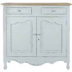 Laura Ashley Bramley Blue Sideboard ($1,125) ❤ liked on Polyvore featuring home, furniture, storage & shelves, sideboards, wooden furniture, wood furniture, blue furniture, timber furniture and wooden sideboards
