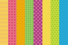 8 colorful vector backrounds with textures. Ideal for web-design, print…