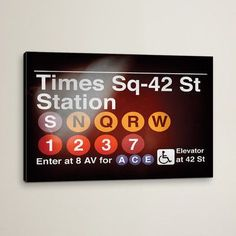 Varick Gallery Subway Times Square - 42 Street Station by Philippe Hugonnard Graphic Art on Wrapped Canvas Size: