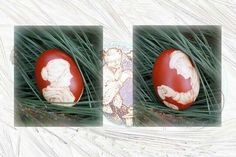 2016  Both illustrations are on the same Easter egg. It represents one of Slovenian tradition.  After the illustration of Maksim Gaspari.