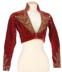 Summer appears to have finished early this year...its been really cold for the last few weeks.......a lovely jacket like this would be ideal to keep off the chill!! Spencer Jacket, early 19th century, Imatex