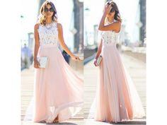 Krajkové růžové šaty 43530. Do společnosti i večerní, na plesy, do tanečních, dodání 1-3dny