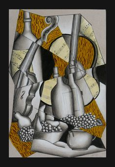 Cubist still life lesson plan/// shapes Arte Elemental, Cubist Art, 7th Grade Art, High School Art Projects, Atelier D Art, Still Life Art, Picasso Still Life, Ecole Art, Jazz Club