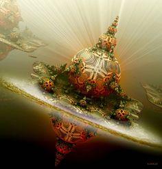 A lighting living planet for DsyneGrafix by marijeberting on DeviantArt Fractal Images, Fractal Art, Fantasy World, Fantasy Art, Gaming Posters, Psychedelic Pattern, Sound Art, Organic Art, Wow Art