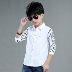 Cheap shirts for boys, Buy Quality boys shirts directly from China striped long Suppliers: 2017 autumn children's clothes boys shirts stripe long sleeve turn-down collar boy shirts for boys big kids causal shirts tops Kids Clothes Boys, Kids Boys, Boys Teenage, Children Clothing, Big Kids, Children Outfits, Children Dress, Boys Dress Shirts, Boys Shirts