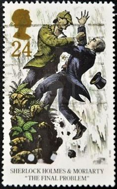 "British stamp: Sherlock Holmes ""The Final Problem"""
