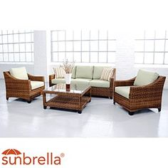 Love the multiple tones of brown Screened In Deck, Sectional Furniture, Outdoor Furniture Sets, Outdoor Decor, Future House, Sweet Home, Backyard, Costco, Dream Garden
