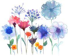 Wildflower Garden © Margaret Berg Art www.margaretberga...