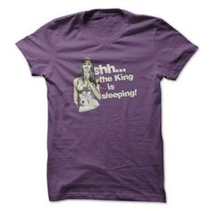 Shh... the King is Sleeping! - #cheap gift #hoodies/jackets. TRY => https://www.sunfrog.com/No-Category/Shh-the-King-is-Sleeping-Purple-7831253-Guys.html?id=60505