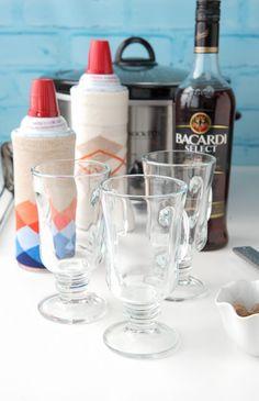 Slow Cooker Hot Buttered Rum self-serve bar