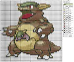 Birdie Stitching Pokemon Pattern - 115 Kangaskhan