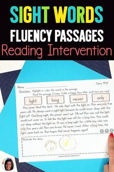 This sight word reading intervention resource contains 55 fluency passages that are packed with targeted sight words. If you have students who can quickly read sight words on a flashcard but struggle to read the words within the context of a story, this resource is a game-changer! Word Reading, Reading Fluency, Reading Intervention, Reading Lesson Plans, Reading Lessons, Sight Word Activities, Reading Activities, Reading Difficulties, Small Group Reading