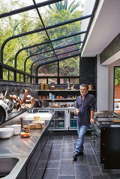 Dirty Kitchen Design, Kitchen Room Design, Outdoor Kitchen Design, Home Decor Kitchen, Dirty Kitchen Ideas, Dream Home Design, Modern House Design, My Dream Home, Home Interior Design