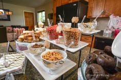 Create a peanut bar for a snack at a princess elephant baby shower