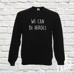 Bowie jumper we can be heroes bowie sweatshirt ziggy by TeeClub