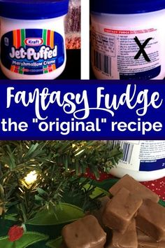 The Original Fantasy Fudge Recipe (not the imposter!) - The Savvy Age Yes! The original fantasy fudge recipe (not the imposter! My favorite go to fudge recipe all year round. Creamy, melt in your mouth fudge recipe with marshmallow cream. New Year's Desserts, Christmas Desserts, Christmas Baking, Christmas Candy, Christmas Cookies, Christmas Treats, Holiday Candy, Christmas 2019, Simple Christmas