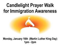 FANTASTIC:  Vigil for Immigration Awareness Set for MLK Day in Brewster.  Brewster FUMC I believe.