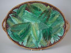 George Jones Majolica fern platter