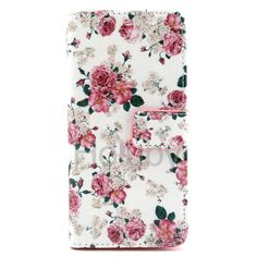 Wallet Style Magnetic Side Flip Stand PU+TPU Case for iPhone  6  Printed Flowers
