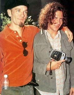 Michael Stipe and Eddie Vedder